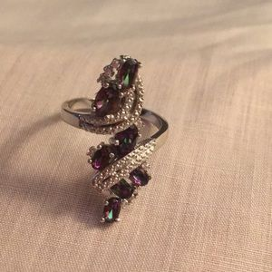 Jewelry - Rainbow Topaz Wedding Engagement Ring Gorgeous